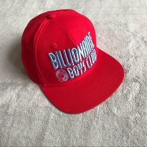 Billionaire Boys Club Red Straight Logo Snapback